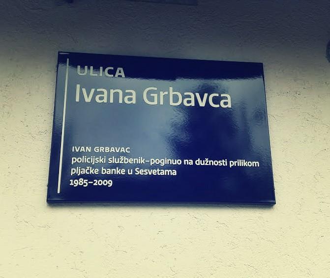 Postavljena ploča s imenom Ulice Ivana Grbavca