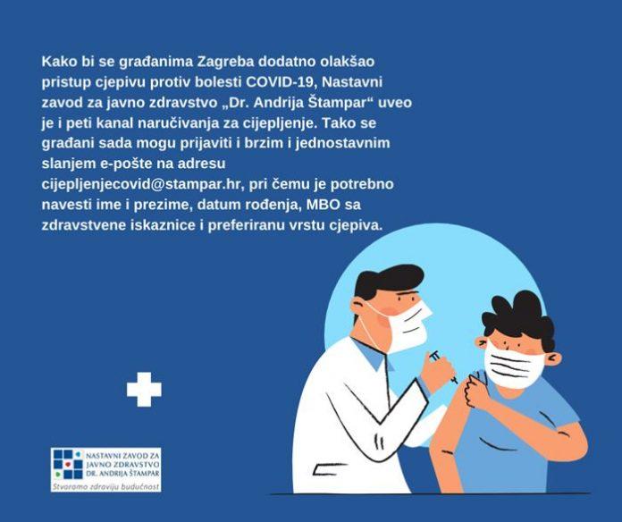 Dostupan novi kanal za naručivanje na cijepljenje protiv COVID-19