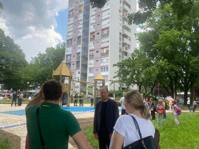 Zamjenik Korlaet obišao lokaciju požara u Novom Zagrebu