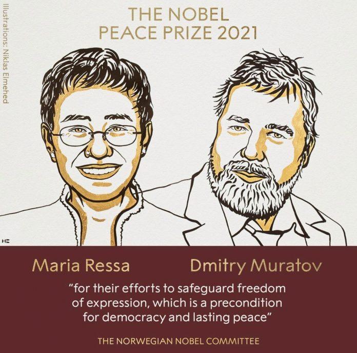 Novinari s Filipina i Rusije dobitnici su Nobelove nagrade za mir 2021. godine